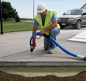 Polyurethane Foam or Mud Jacking To Raise Existing Slabs.