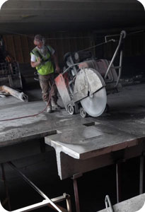 slab sawing